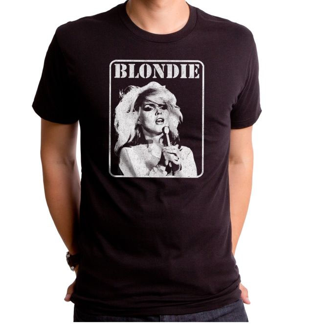 Blondie- Presente Pic on a black ringspun cotton shirt by Goodie Two Sleeves (Sale price!)