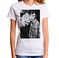 Blondie- With Bowie on a white girls fitted shirt by Goodie Two Sleeves (Sale price!)