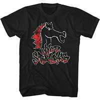 Bill & Teds Excellent Adventure- Wyld Stallyns (Head) on a black ringspun cotton shirt