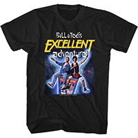 Bill & Teds Excellent Adventure- Space Pic on a black ringspun cotton shirt
