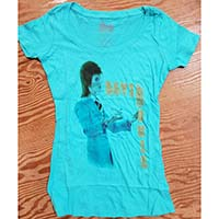 David Bowie- Suit Pic on a light blue girls boatneck shirt (Sale price!)
