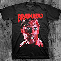 Braindead- Bloody Face on a black ringspun cotton shirt