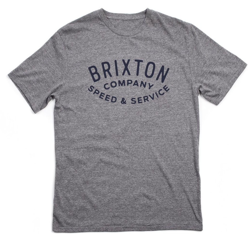 Gasket Premium Shirt by Brixton- Heather Grey (Sale price!)