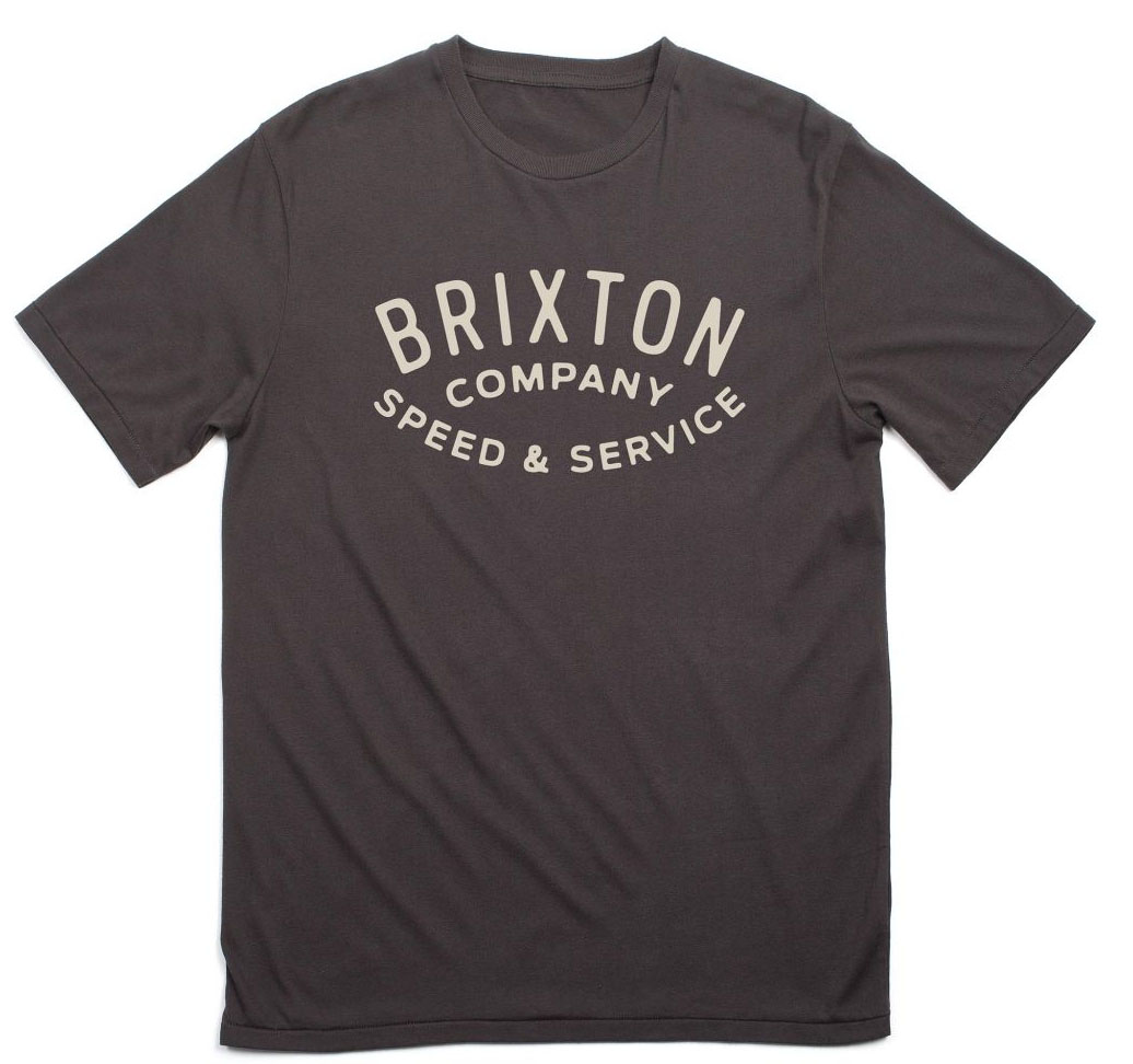 Gasket Premium Shirt by Brixton- Washed Black (Sale price!)