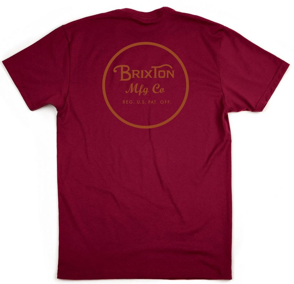 Wheeler II Shirt by Brixton- BURGUNDY / RUST (Sale price!)
