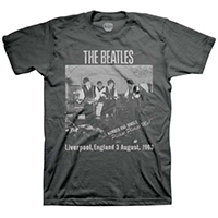 Beatles- Cavern Club on a charcoal ringspun cotton shirt