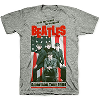 Beatles- American Tour 1964 on a heather grey ringspun cotton shirt