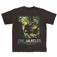 Beatles- Paperback Writer on a black ringspun cotton shirt