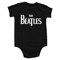 Beatles- Logo on a black onesie