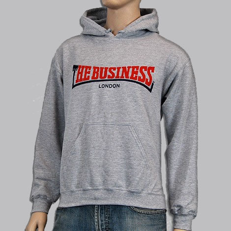 Business- Logo on a grey hooded sweatshirt (Sale price!)