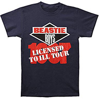 Beastie Boys- License To Ill Tour 1987 on a navy shirt (Sale price!)