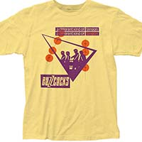 Buzzcocks- A Different Kind Of Tension on a light yellow ringspun cotton shirt