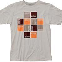 Buzzcocks- Square Logos on a silver ringspun cotton shirt