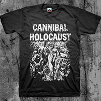 Cannibal Holocaust- Cannibals on a black shirt