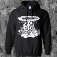 Carcass- Peace Bomb on a black hooded sweatshirt