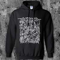 Carcass- Reek Of Putrefacation on a black hooded sweatshirt