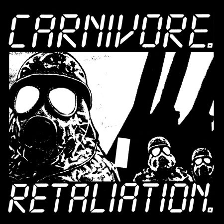Carnivore- Retaliation on a black hooded sweatshirt