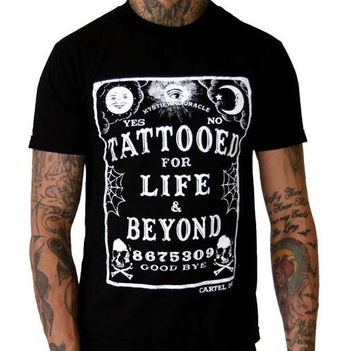 Tattooed For Life & Beyond Ouija Shirt by Cartel Ink - SALE sz M only