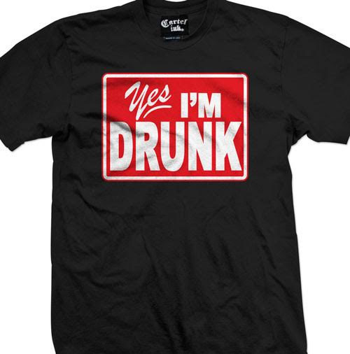 Yes I'm Drunk Shirt by Cartel Ink - on black