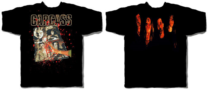 Carcass- Necroticism (Smashing Band Pic) on a black shirt
