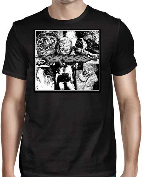 Carcass- I Reek Of Putrification on front & back on a black shirt