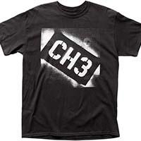 CH3- Channel 3-  Logo on a black shirt