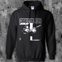 Charles Bronson- Tough Guy on a black hooded sweatshirt