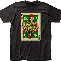 Cheech And Chong- Playing Card on a black ringspun cotton shirt