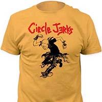 Circle Jerks- Skanker on a mustard ringspun cotton shirt