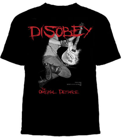 Circle Jerks- Disobey on a black shirt (Sale price!)
