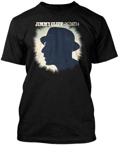 Jimmy Cliff- Rebirth on a black slim fit shirt (Sale price!)