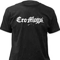 Cro Mags- Logo on a black ringspun cotton shirt