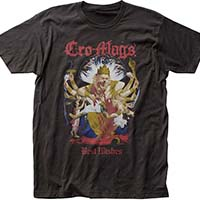 Cro Mags- Down But Not Out (Full Color Best Wishes) on a coal ringspun cotton shirt