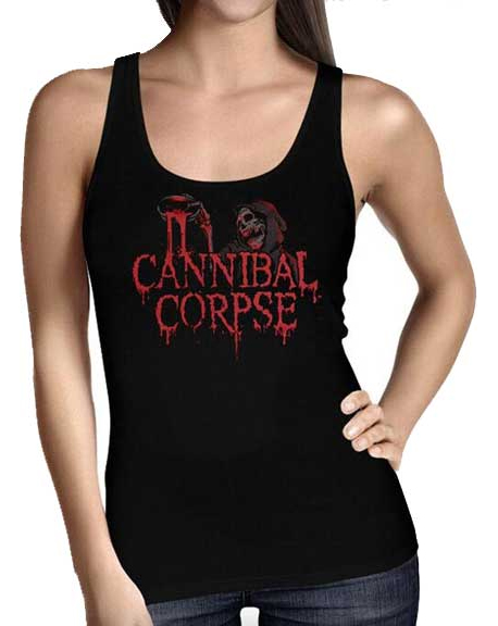 Cannibal Corpse- Logo on a black girls tank shirt