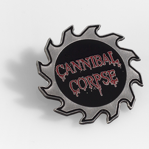 Cannibal Corpse- Saw Blade Die Cut Pin (Sale price!) (MP129)