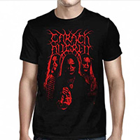 Carach Angren- Band on front, Dead Amongst The Rotten on back on a black shirt