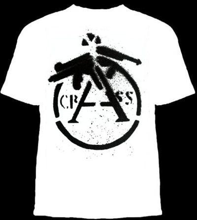 Crass- Cracked Gun on a white shirt (Sale price!)