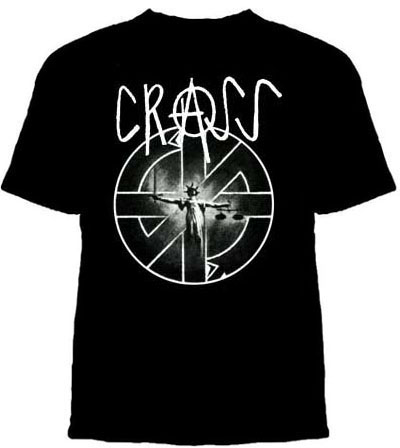 Crass- Lady Justice on a black shirt (Sale price!)