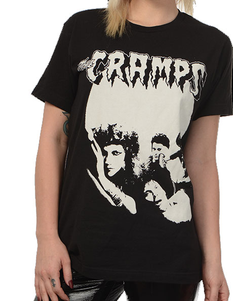 Cramps- 1979 Band Pic on a black ringspun cotton shirt