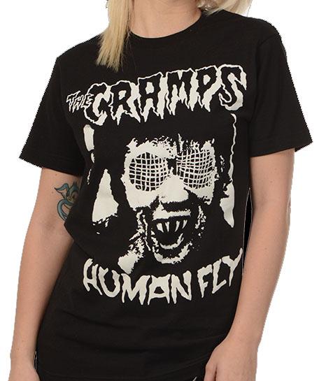 Cramps- Human Fly on a black ringspun cotton shirt