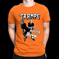 Cramps- Rock N Roll Monster Bash on an orange ringspun cotton shirt