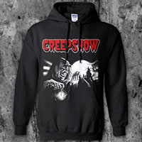 Creepshow- Crypt Keeper on a black hooded sweatshirt