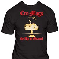 Cro Mags- Age Of Quarrel on a black shirt