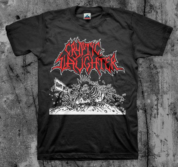 Cryptic Slaughter- Band In SM shirt (Various Color Ts)