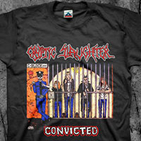 Cryptic Slaughter- Convicted on front & back on a black shirt
