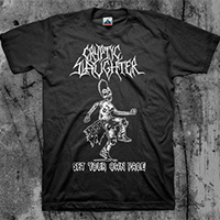 Cryptic Slaughter- Set Your Own Pace on a black shirt