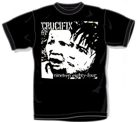Crucifix- 1984 on a black YOUTH sized shirt (Sale price!)