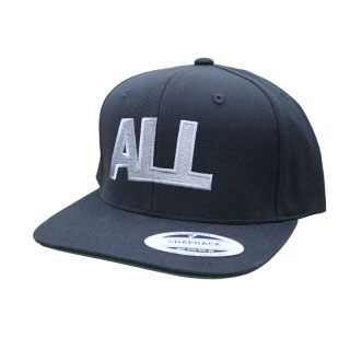 ALL- Logo embroidered on a black baseball hat