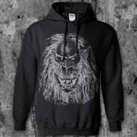 Creepshow- Fluffy on a black hooded sweatshirt