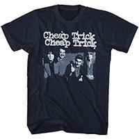 Cheap Trick- Band Pic on a navy ringspun cotton shirt
